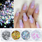 Holographicsssss Nail Glitter Powder Irregular Sequins Butterfly Flake Nail Tips