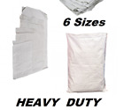 BAG SACKS WOVEN LARGE EXTRA HEAVY DUTY RUBBLE SAND BAG SACKS POLYPROPYLENE PB
