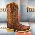 Mens Crocodile Back Pattern Cowboy Boots Real Leather Western Square Toe Botas