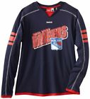 Reebok NHL Hockey Men's New York Rangers Long Sleeve Jersey Shirt, Navy $19.95 USD on eBay