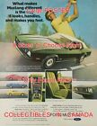 "FORD MUSTANG 1973 Green w/ White Top CAR Golf GOLFING = POSTER 8 Sizes 17"" - 36"""