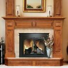 Pleasant Hearth Fenwick Cabinet Fireplace Screen and Arch Prairie Smoked Glass