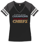 Women's Kansas City CHIEFS Super Bowl Champions Ladies Champs Shirt Tee Bling $29.99 USD on eBay