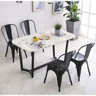 2/4 Dining Chair Modern Metal Chair Tavern Cafe Stackable Chair Kitchen Furnitur