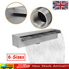 Garden Rectangular Waterfall Swimming Pool Fountain Stainless Steel 6 Sizes