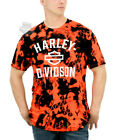 Harley-Davidson Mens B&S Sublimated Safety Orange and Black Short Sleeve T-Shirt $19.99 USD on eBay