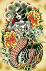 Sailor Made by Tyler Bredeweg Mermaid Tattoo Rolled Canvas or Poster Art Print