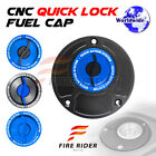 FRW BK/BU CNC Quick Lock Fuel Cap For Honda RVF 400 94-97 94 95 96 97