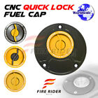 Gold Quick Lock Fuel Cap For Honda VFR 400 92-93 92 93