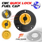 Gold Quick Lock Fuel Cap For Honda CB 919 Hornet 900 All Year 03 04 05