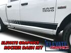 Ram 1500 Side Rocker Dash Stripes Dodge Graphics Vinyl Decals Stickers 2009-2018