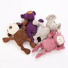 AM_ New Pet Dogs Puppy Cute Elephant Shape Plush Doll Interactive Chew Squeaking