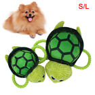 AM_ Pet Puppy Sea Turtle Shape Plush Doll Cotton Rope Squeaky Bite Play Toy Late