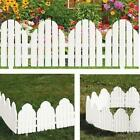 Adirondack Style Plastic Garden Fence Panels Lawn Border Plant Flower Edging