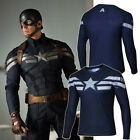 Captain America The Winter Soldier Mens Top T Shirts Short/Long Sleeve Gym Tee