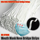 10cm Nose Bridge Strip Mouth Face Cover Fix Protection For Masks-Making US Stock