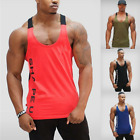 Gym Men Bodybuilding Tank Top Muscle Stringer Athletic Fittness Shirt Clothes image