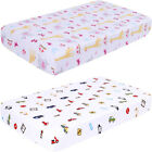 Ultra Soft Breathable Hypoallergenic Comfy Printed Baby Crib Fitted Sheets