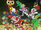 3D Happy Animal on Bike Windmill Wind Spinner Whirligig Garden Lawn Yard Decor