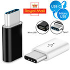 5pcs USB Type C Male To Micro USB USB-C Converter Charger Charging Adapter UK