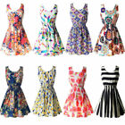 2020 Women Summer Beach Chiffon Mini Dress Sleeveless OL Floral Tank Sundress