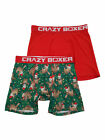 Mens 2-Pack Green & Red Christmas Lights Sloth Underwear Boxer Briefs