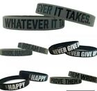 Motivational Silicone Wristbands unisex Rubber Sport Bracelet Rubber image