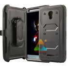 For Alcatel OneTouch Fierce 4 Screen Protector Kickstand Rugged Case Cover Skin