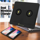 Qi Standard Wireless Charger Desktop Dual Fast Charging Dock For iPhone Sansung