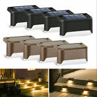 8pcs Solar Power Led Deck Lights Outdoor Pathway Garden Stairs Step Fence Lamp