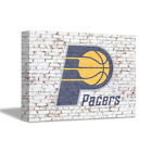 INDIANA PACERS NBA Team Logo on Brick Wall Home Art Decor Gift CANVAS POSTER on eBay