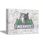 MINNESOTA TIMBERWOLVES NBA Team Logo on Brick Wall Home Art Decor CANVAS POSTER on eBay