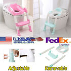 Kids Toilet Ladder Baby Toddler Training Toilet Step Potty Seat Chair Trainer image