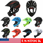 Bike Kids Full Face Helmet W/ Light Scooter Bicycle Skateboard Safety Protection