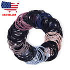 200 Pcs  Hair Ties For Women, Cotton Seamless Hair Bands, Ponytail Holders Ties