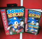 Sonic 3D Blast  - MD Game Cartridge US Cover with box and manual For Sega Genesi