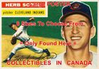 "HERB SCORE 1956 Cleveland Indians = POSTER Baseball Card 8 SIZES 17"" - 3 FEET on Ebay"