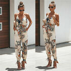 Plus Size 6-20 Boho Womens Strappy Floral Pocket Holiday Playsuit Beach Jumpsuit