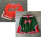 Chicago Bulls Red and Green Basketball shorts All sewn on eBay