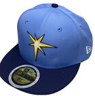 Tampa Bay Rays Hat Fitted Cap New Era 59Fifty Youth Blue Sz 6 3/4 6 5/8 NWT on Ebay