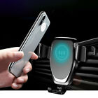 2IN1 10W Qi Wireless Charger Car Phone Holder Air Vent Bracket For iPhone XS XR