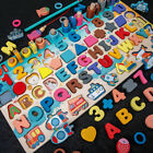 Kids Building Blocks Toys Wood Fun Puzzle Shapes Arts Color Educational Learning