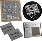 """10"""" X 10"""" Felt Letter Board with 360 Changeable White Letters - Two Zippered"""