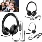 Mpow USB 3.5mm Wired Computer PC Headset Headphones w/ MIC for Call Centre Skype