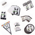 Tableware Decor Party Favors Tablecloth Popcorn Box Panda Theme Banners
