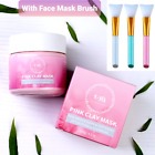 🔥SALE🔥Australian Pink Clay Mud Face Mask + Brush(Pink,White,Blue)-120g