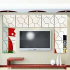 7 Pack 3d Adhesive Mirror Wall Stickers Diy Ceiling Art Removable Decal Decor Us