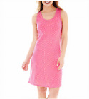 Mixit Short-Sleeve Nightshirt Size L Vibrant Pink New Msrp $30.00
