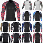 Men's Compression T Shirt Long Sleeve Top Base Layer Gym Sports Athletic T-Shirt image
