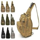 Men Shoulder Tactical Sling Bag Cross Body Chest Pack Hiking Cycling Backpack Uk